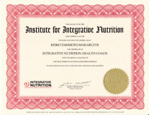 Institute for Integrative Nutrition Certificate